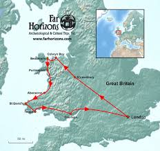 Wales England Map by Wales And England Tour Far Horizons