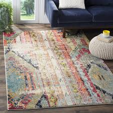how big should my area rug be amazon com safavieh monaco collection mnc222f modern bohemian