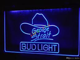 le116 b bud light george strait bar pub neon light sign home decor