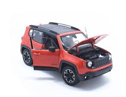 jeep renegade orange welly 1 24 jeep renegade diecast metal model car new in box orange