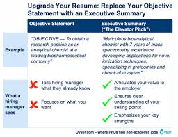 Job Objectives For Resume by The Most Important Thing On Your Resume The Executive Summary