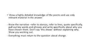 quote about time changing everything igcse poetry coursework autumn term hand in date thursday 15