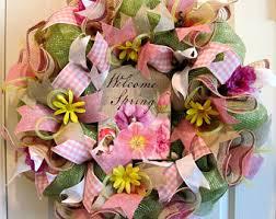 springtime wreaths springtime wreath etsy