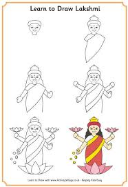 learn to draw lakshmi 460 jpg