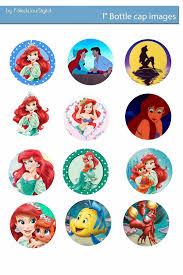 free bottle cap images ariel the little mermaid digital bottlecap
