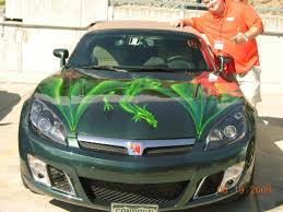 Green Mustang With Black Stripes Racing Stripes