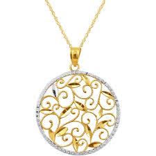 round pendants necklace images Gold round pendant necklace awwake me jpg