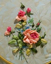 silk ribbon roses flickriver photoset ribbon embroidery by ingrid leeart