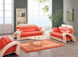 Orange Living Room Set Bright And Fresh Orange Living Room Furniture Living Room