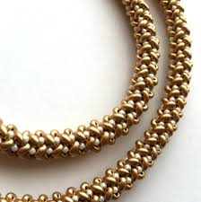 bead rope necklace images Must try herringbone stitch necklace beading daily png