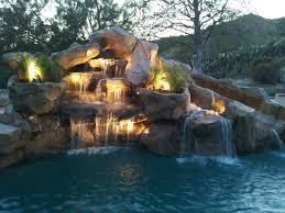 rock waterfalls for pools pool designs with rock slides elefamily co