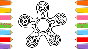 how to draw and color fidget spinner coloring pages for kids