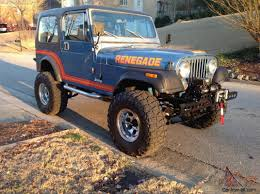 jeep eagle lifted jeep cj7 renegade original paint unrestored cj super solid lifted 4x4