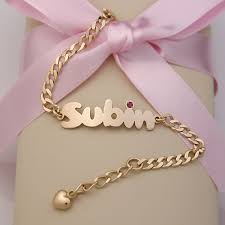 Custom Gold Bracelets Baby Bracelets With Name In Rubber Bracelets