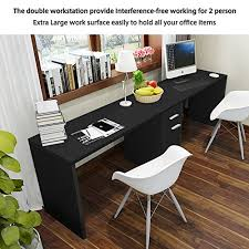 Computer Desk For Two Computers Amazon Com Tribesigns Double Workstation Computer Desk With