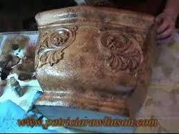 Concrete Faux Paint - paint a tuscan planter faux finish decorative painting youtube