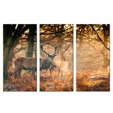 online get cheap wildlife wall murals aliexpress com alibaba group wildlife elk in foggy forest pictures canvas wall art decor murals home decorative painting modern giclee print artwork