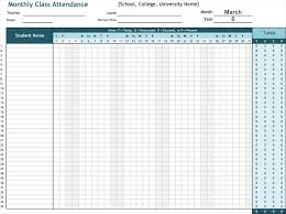 Attendance Sheet Template Excel Attendance List Template Sheets For Word And Excel