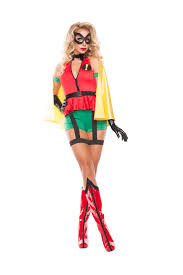 Womens Robin Halloween Costume Sidekick Costume Robin Costume Superhero Woman