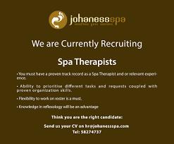 Spa Front Desk Job Description Job Opportunities Mall Of Mauritius