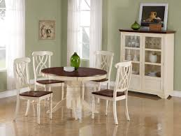 Antique White Laminate Flooring Decoration Dining Room Interior With Green Paint Color Wall And