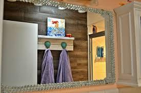 Home Decor Beach Theme Beach Themed Diy Seashells And Glass Gem Mirror Decor Themrsinglink