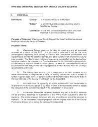 sample contract for cleaning business professional resumes