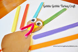 thanksgiving turkey craft for kids gobble gobble surviving a