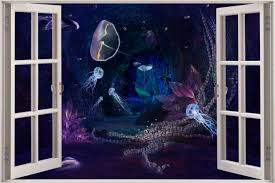wall decals underwater color the walls of your house wall decals underwater huge 3d window fantasy underwater view wall stickers film decal