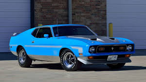 Blue And Black Mustang 1971 Ford Mustang Mach 1 Fastback F155 Indy 2016