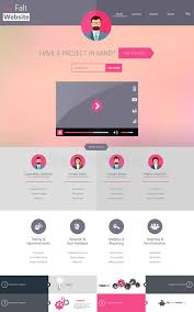 reporting website templates one page website template creative flat design stock vector