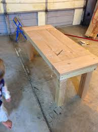 Diy Farmhouse Table And Bench Mothering With Creativity Diy Kids Sized Farmhouse Table