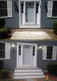 front door steps home deck remodeling jackman works projects