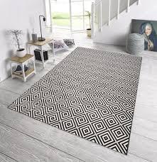 teppiche design in outdoor design teppich terrasse 160 x 230 cm karo schwarz