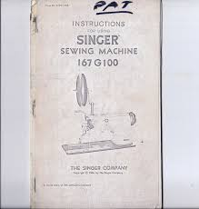 1966 singer sewing machine instruction manual for using model 167