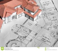 model home and blueprints stock photo image of industry 10951146