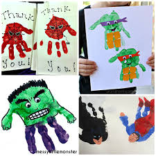 amazing superhero handprint crafts kids crafty morning