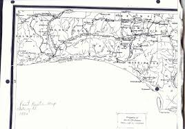 Florida Alabama Map by Baker Block Museum Map Collection