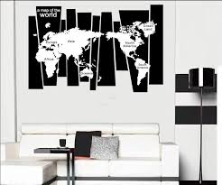 tree trunk wall decal sticker seven continents world map wall