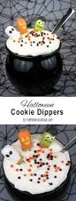 spooky cookie dippers for halloween