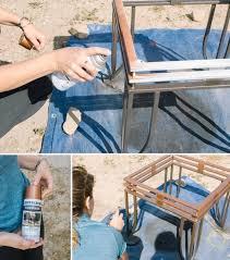 diy metallic ombre side table hometalk