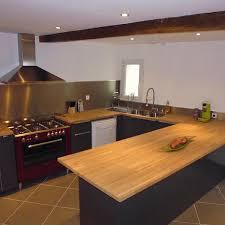 cuisine avec plan de travail en bois plan de travail chene massif maison design bahbe com