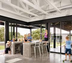 modern farmhouse indoor outdoor bar concrete countertop dwr