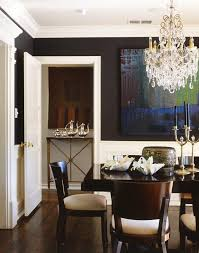 nice chandelier small dining room modern with a more traditional