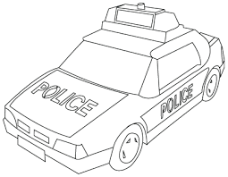 police car drawing color