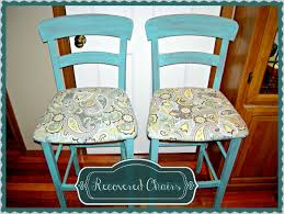 recovering bar stools u0026 recovering chairs 5 easy steps thrifty