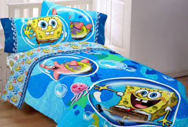 gorgeous blue spongebob bedding twin for simple white bed with