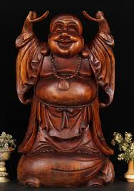 sold laughing buddha wood statue 24 bw51 hindu gods buddha