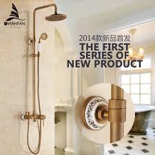 shower faucets antique finish bathroom faucet brass bath rainfall