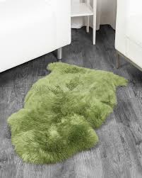 Costco Sheepskin Rug Meadow Green Sheepskin Rug 2x3 5 Ft Sheepskin Town